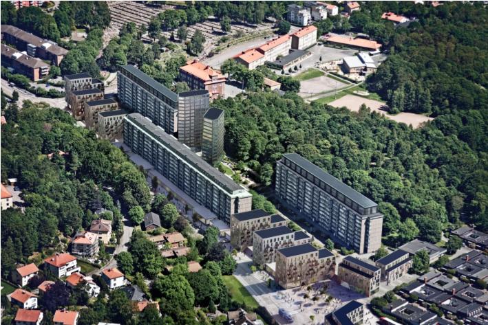 Elva nya byggnader och påbyggnader komer ge 440 nya bostäder på Prästgårdsängen