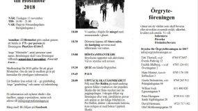 UPPTÄCK SKATÅS!  KOM TILL ÖRGRYTEFÖRENINGEN DEN 13/11